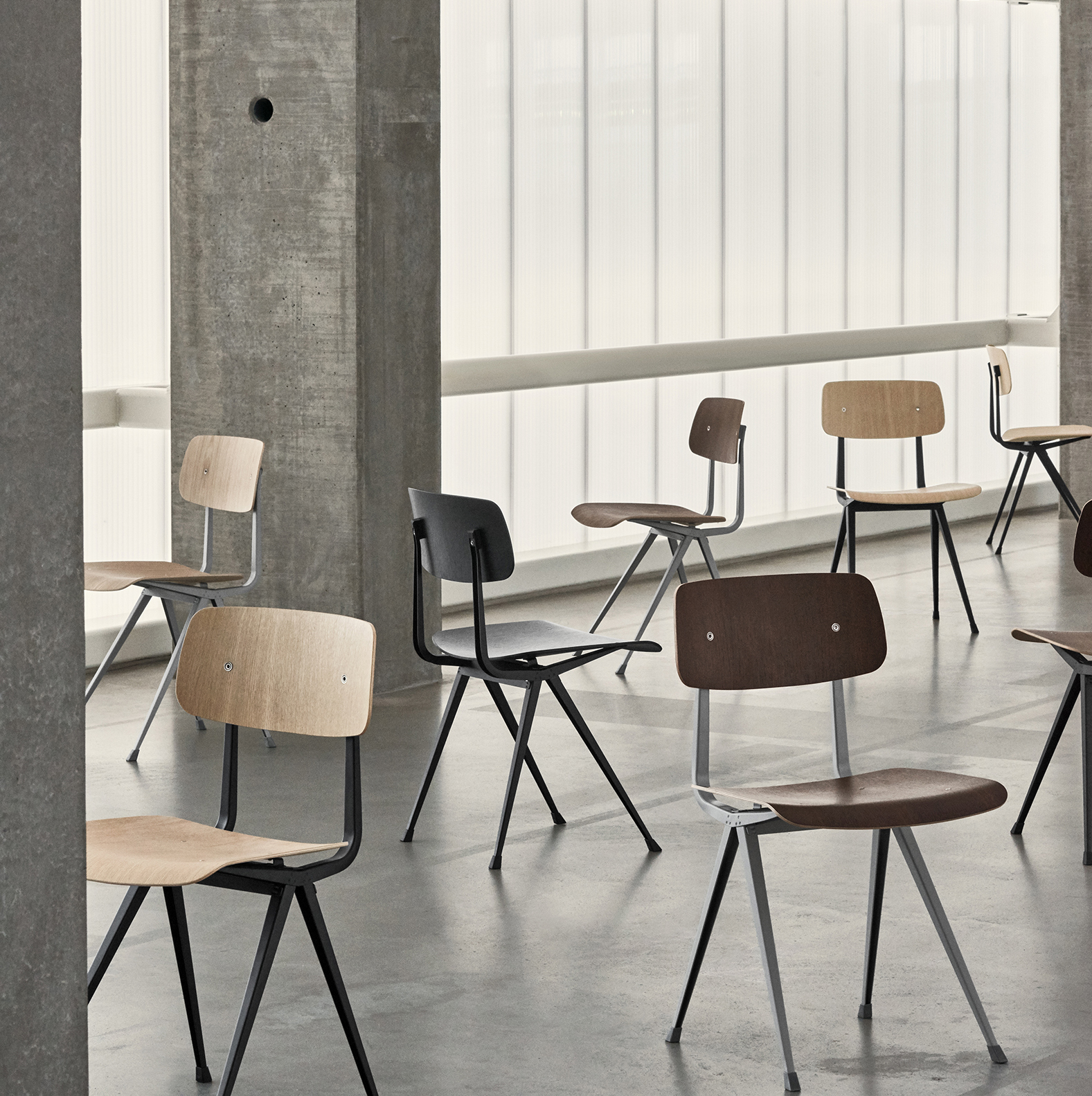 RESULT CHAIR & PYRAMID COLLECTION BY FRISO KRAMER AND WIM RIETVELD