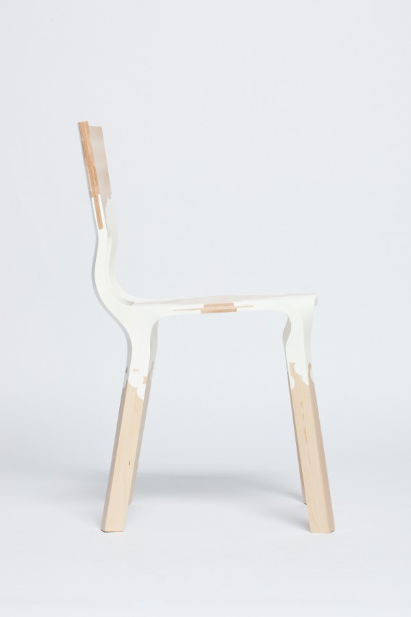 ... Is A Connection And That On Different Levels, I Name Two: Physical  (wood Connected By Plastic) And Stylistically (plastic Furniture, Wooden  Furniture)